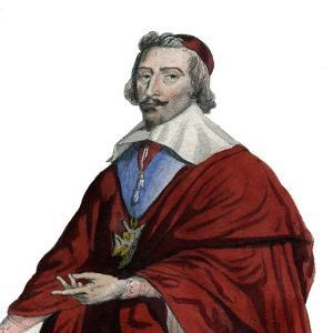 Portrait of Cardinal Richelieu (Armand Jean du Plessis), French clergyman, noble, and statesman by French School