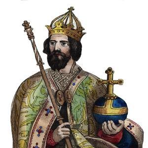 Portrait of Charlemagne (742-814), King of the Franks by French School