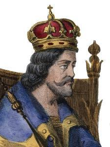Portrait of Charles I of Naples (Charles of Anjou) (1227-1285), King of Sicily by French School