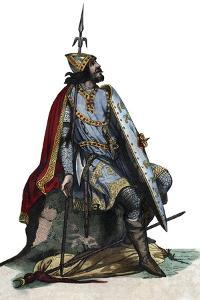 Portrait of Charles Martel (688-741), Frankish military and political leader by French School