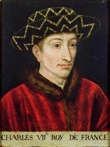Portrait of Charles VII (1403-61) King of France by French School