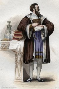 Portrait of Clement des Marets called Marot (1496-1544), French poet by French School