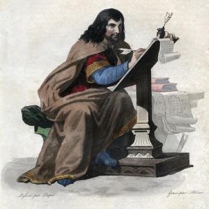 Portrait of Einhard (Eginhard, Einhart, Einard, Einhard) (775-840), Frankish scholar and courtier by French School