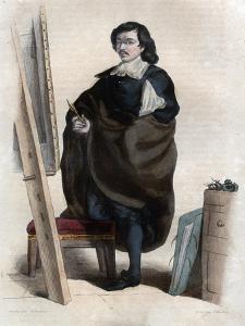 Portrait of Eustache Le Sueur or Lesueur (1617-1655), French painter by French School