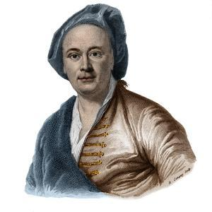 Portrait of french painter Maurice Quentin Delatour (De La Tour) (1704-1788) by French School