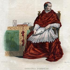 Portrait of Georges d'Amboise (1460-1510), French cardinal and minister of state by French School