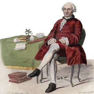 Portrait of Georges Louis Leclerc, Comte de Buffon (1707-1788), French naturalist by French School