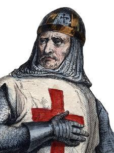 Portrait of Godfrey of Bouillon Frankish knight, one of the leaders of the First Crusade by French School