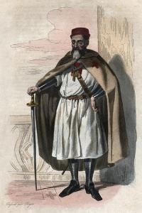 Portrait of Jacques of Molay (Molai) (1243-1314), Grand Master of the Knights Templar by French School