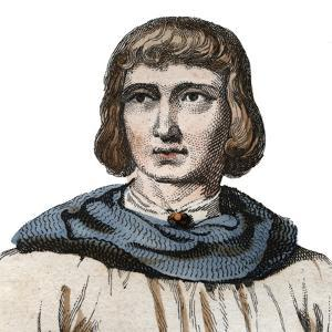 Portrait of Jean de Joinville (1225-1317), chronicler of medieval France by French School
