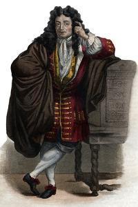 Portrait of Jean de La Bruyere (Labruyere) (1645-1696), French essayist and moralist by French School