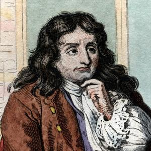 Portrait of Jean de La Fontaine (Lafontaine) (1621-1695), French fabulist and poet by French School