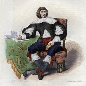 Portrait of Jean Louis Guez de Balzac (1597-1654), French author by French School