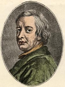 Portrait of John Dryden, English poet, (1631-1700) by French School