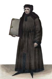 Portrait of John Froissart (1337-1404), French chroniclers of medieval France by French School