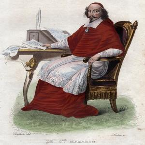 Portrait of Jules Mazarin (1602-1661), French Italian cardinal, diplomat, and politician by French School