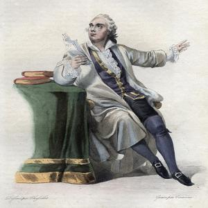 Portrait of Lekain (1729-1778), French actor by French School