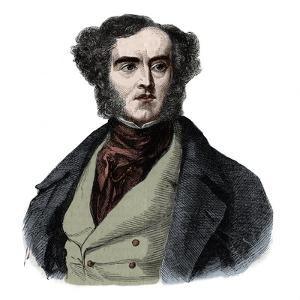 Portrait of Lord George Cavendish Bentinck (1802-1848), English statesman and sportsman by French School
