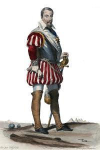 Portrait of Louis Des Balbes de Berton de Crillon, French soldier called the man without fear by French School