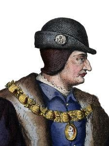Portrait of Louis XI of France (1423-1483), King of France by French School