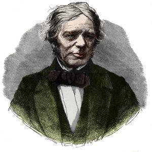 Portrait of Michael Faraday (1791-1867), English chemist and physicist by French School