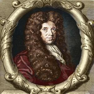Portrait of Neremiah Grew (1641-1721) English botanist by French School