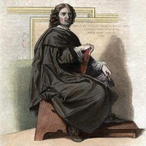 Portrait of Nicolas Poussin (1594-1665), French painter by French School