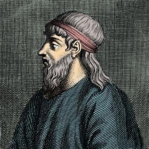 Portrait of Parmenides of Elea (flc 5th BC) Greek philosopher by French School