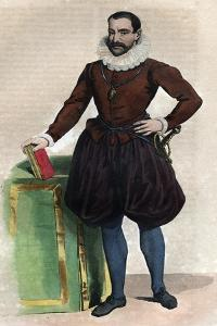Portrait of Philippe Duplessis Mornay, seigneur du Plessis Marly, French Protestant writer by French School
