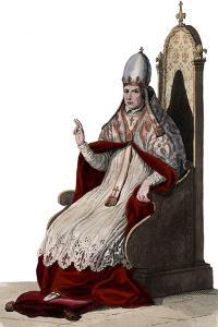 Portrait of Pope Sylvester II (or Silvester II) (c 938-1003) by French School