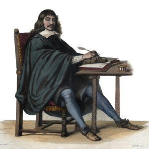 Portrait of Rene Descartes (1596-1650), French philosopher and writer by French School