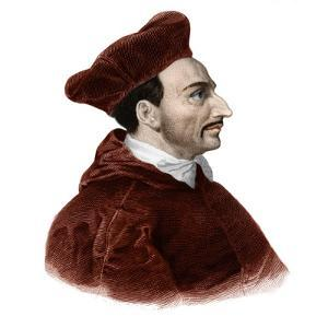 Portrait of Saint Charles Borromee (1538-1584) cardinal archbishop by French School