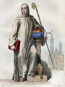Portrait of Suger (abbe Suger) (1081-1151), French abbot and historian by French School