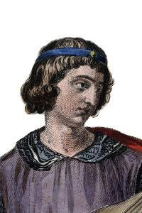 Portrait of Theobald I, Count of Champagne as Theobald IV from birth and King of Navarre from 1234 by French School