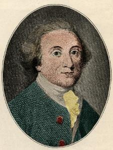 Portrait of William Whitehead (English poet) (1715-1785) by French School