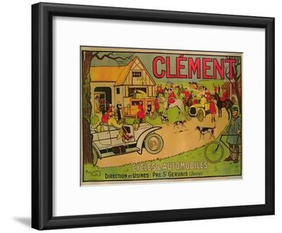 Poster Advertising 'Cycles and Motorcars Clement', Pre Saint-Gervais, 1906