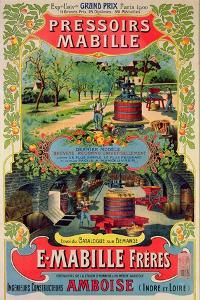 Poster Advertising 'Pressoirs Mabille', at the Exposition Universelle, Paris, 1900 by French School