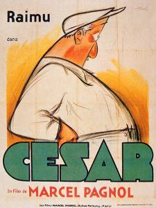 Poster Advertising the Film, 'Cesar with Raimu', by Marcel Pagnol (1895-1974) by French School