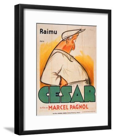 Poster Advertising the Film, 'Cesar with Raimu', by Marcel Pagnol (1895-1974)