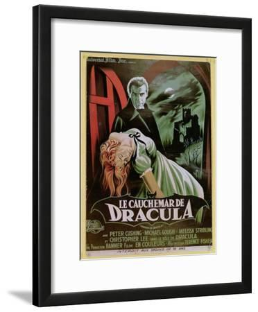 Poster Advertising the French Version of the Film, 'The Horror of Dracula'