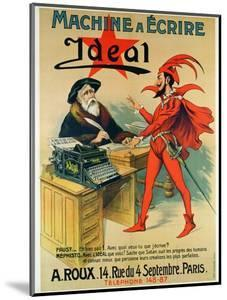 Poster Advertising the 'Ideal' Typewriter by French School