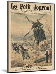 Pulling Down One of the Last Windmills on the Butte Montmartre by French School