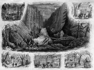 Scenes from 'Freischutz' by Carl Maria von Weber, 1870 (litho) by French School