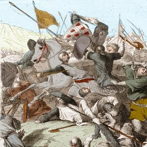 The Battle of Hattin, 4th July 1187 by French School