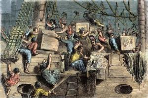 The Boston Tea Party, 6th of December 1773 by French School