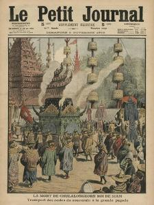 The Death of Chulalongkorn, King of Siam, Illustration from 'Le Petit Journal', 6th November 1910 by French School
