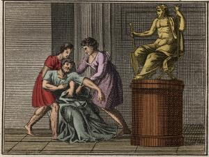 The Death of Demosthenes, 384-322 BC by French School