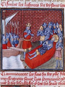 The Death of Saint Louis in Tunis on 25 August 1270 by French School