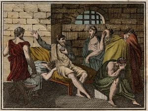 The death of Socrates, Greek philosopher (470?-399 BC) by French School