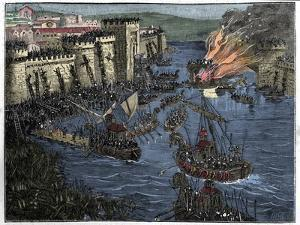 The Normans, led by Rollo, besieged Paris in 885 by French School